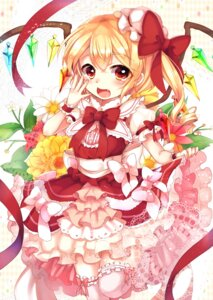 Rating: Safe Score: 36 Tags: dress flandre_scarlet harakasu thighhighs touhou wings User: Mr_GT