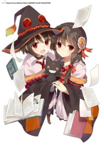 Rating: Safe Score: 40 Tags: digital_version kono_subarashii_sekai_ni_bakuen_wo! kono_subarashii_sekai_ni_shukufuku_wo! megumin mishima_kurone neko seifuku witch yunyun_(kono_subarashii_sekai_ni_shukufuku_wo!) User: Twinsenzw