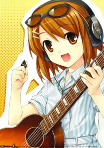 Rating: Safe Score: 17 Tags: headphones hiiro_yuki hirasawa_yui k-on! megane minus_art_works User: fireattack