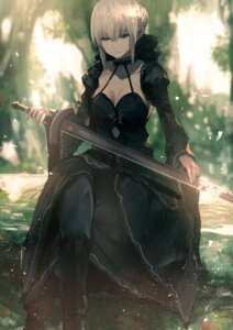 Rating: Safe Score: 53 Tags: cleavage dress fate/grand_order fate/stay_night kumamoto_nomii-kun saber saber_alter sword User: Nepcoheart