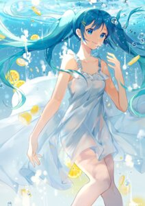 Rating: Questionable Score: 44 Tags: cleavage dress hatsune_miku no_bra nopan see_through skirt_lift summer_dress vocaloid wet_clothes yayako_(804907150) User: yanis