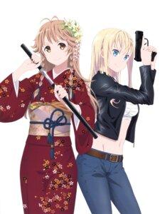 Rating: Safe Score: 23 Tags: gun high_school_fleet kimono nakamura_naoto nosa_kouko open_shirt sarashi sword tagme wilhelmina_braunschweig_ingenohl_friedeburg User: Radioactive