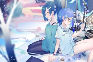 Rating: Safe Score: 24 Tags: megane pajama pantyhose shining_star_(anime) tagme yuri User: Radioactive