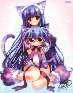 Rating: Safe Score: 17 Tags: animal_ears carnelian kawakabe_momoka nekomimi nopan tail touka_gettan User: Radioactive