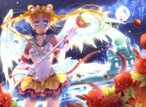 Rating: Safe Score: 19 Tags: eternal_sailor_moon sailor_moon touki_matsuri tsukino_usagi weapon wings User: charunetra