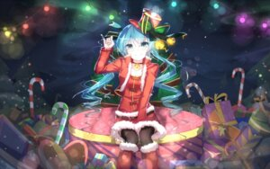 Rating: Safe Score: 84 Tags: christmas hatsune_miku sen_ya thighhighs vocaloid User: Mr_GT
