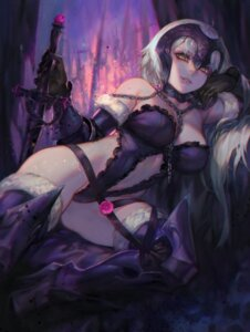 Rating: Questionable Score: 68 Tags: aoin armor cameltoe cleavage fate/grand_order heels jeanne_d'arc jeanne_d'arc_(alter)_(fate) lingerie sword thighhighs User: Mr_GT