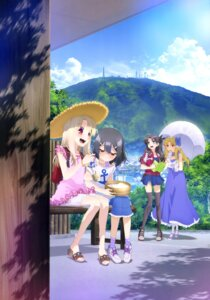 Rating: Safe Score: 34 Tags: dress fate/kaleid_liner_prisma_illya fate/stay_night illyasviel_von_einzbern luviagelita_edelfelt miyu_edelfelt thighhighs toosaka_rin umbrella User: drop