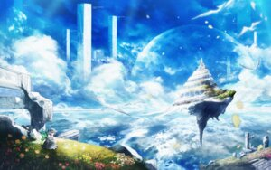Rating: Safe Score: 26 Tags: chitose_rin dress landscape wallpaper wings User: eridani