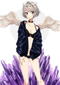 Rating: Safe Score: 37 Tags: bikini cleavage open_shirt swimsuits umeno_(shio1205) wings User: nphuongsun93