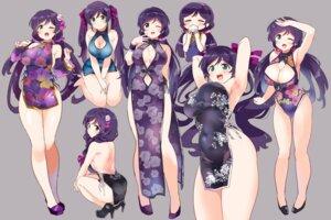 Rating: Questionable Score: 31 Tags: ass breast_hold chinadress cleavage dress heels kurokawa_makoto leotard love_live! no_bra tagme toujou_nozomi User: Spidey