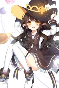 Rating: Safe Score: 48 Tags: heels herb_(artist) pointy_ears seifuku thighhighs witch User: Mr_GT