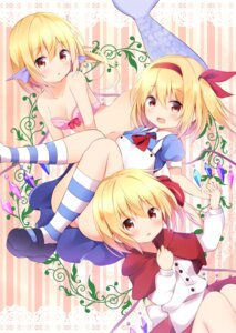 Rating: Safe Score: 47 Tags: alice_in_wonderland bikini_top cleavage cosplay dress flandre_scarlet hyurasan mermaid monster_girl pantsu the_little_mermaid touhou wings User: nphuongsun93
