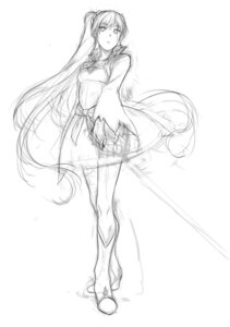 Rating: Safe Score: 19 Tags: dress heels kirisato_itsuki monochrome rwby sketch weiss_schnee User: zero|fade