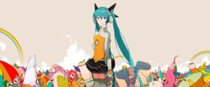 Rating: Safe Score: 16 Tags: hatsune_miku headphones odds_&_ends_(vocaloid) thighhighs uki_atsuya vocaloid User: animeprincess