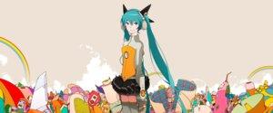 Rating: Safe Score: 15 Tags: hatsune_miku headphones odds_&_ends_(vocaloid) thighhighs uki_atsuya vocaloid User: animeprincess