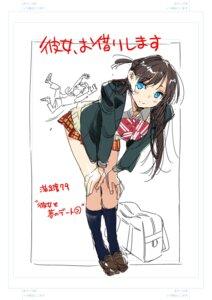 Rating: Safe Score: 13 Tags: kanojo_okarishimasu miyajima_reiji mizuhara_chizuru seifuku sketch sweater User: megurimareta