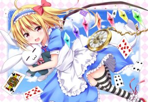 Rating: Safe Score: 40 Tags: alice alice_in_wonderland cosplay flandre_scarlet hyurasan skirt_lift thighhighs touhou wings User: 蕾咪