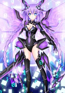 Rating: Safe Score: 39 Tags: bodysuit choujigen_game_neptune cleavage kishimen purple_heart sword wings User: charunetra