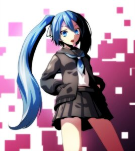 Rating: Safe Score: 26 Tags: hatsune_miku seifuku sweater tsukishiro_saika vocaloid User: charunetra