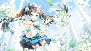 Rating: Safe Score: 32 Tags: ark_order dress gyaza tagme thighhighs wallpaper User: BattlequeenYume