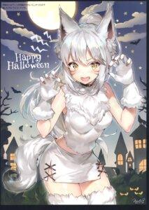 Rating: Safe Score: 64 Tags: animal_ears final_fantasy final_fantasy_xiv halloween inumimi momoko_(momopoco) tail thighhighs User: kiyoe