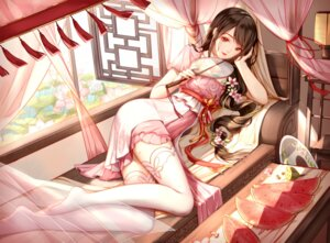 Rating: Safe Score: 81 Tags: asian_clothes clouble thighhighs tianxia User: BattlequeenYume