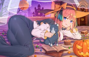 Rating: Safe Score: 32 Tags: 5-toubun_no_hanayome halloween kongbai nakano_nino neko witch User: Dreista