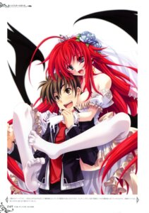 Rating: Questionable Score: 38 Tags: dress highschool_dxd hyoudou_issei miyama-zero rias_gremory thighhighs User: crim
