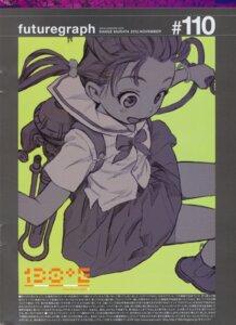 Rating: Safe Score: 4 Tags: monochrome range_murata seifuku skirt_lift User: 8mine8