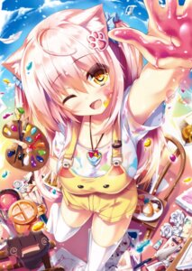 Rating: Safe Score: 113 Tags: animal_ears cleavage nekomimi shia_flatpaddy syroh tail thighhighs User: Twinsenzw