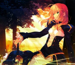 Rating: Safe Score: 39 Tags: dress fate/stay_night saber sword takeuchi_takashi type-moon User: KiNAlosthispassword