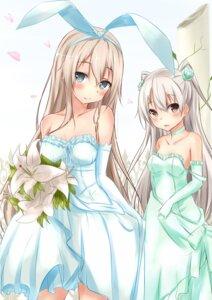 Rating: Safe Score: 106 Tags: amatsukaze_(kancolle) dress kantai_collection saku_(kudrove) shimakaze_(kancolle) wedding_dress User: 椎名深夏