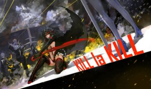 Rating: Questionable Score: 20 Tags: blueman kill_la_kill matoi_ryuuko stockings sword thighhighs User: Konngara