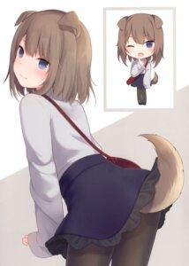 Rating: Questionable Score: 48 Tags: amashiro_natsuki animal_ears inumimi pantyhose skirt_lift tagme tail User: kiyoe