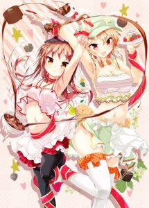 Rating: Safe Score: 41 Tags: cleavage pantyhose porurin thighhighs valentine User: fairyren