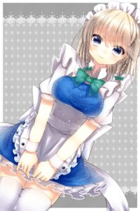 Rating: Safe Score: 25 Tags: izayoi_sakuya maguro_(gulen-x) maid thighhighs touhou User: charunetra