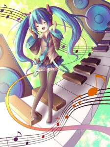 Rating: Safe Score: 11 Tags: amene_kurumi hatsune_miku thighhighs vocaloid User: charunetra