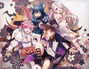Rating: Safe Score: 12 Tags: abandon_ranka akita_toushirou animal_ears bandages halloween heels houchou_toshirou ima-no-tsurugi sarashi sayo_samonji tail torn_clothes touken_ranbu wings witch User: BattlequeenYume