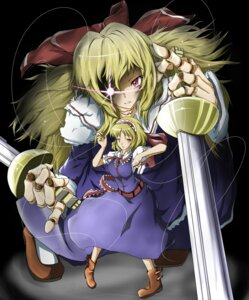 Rating: Safe Score: 6 Tags: alice_margatroid goliath_doll reri sword touhou User: charunetra