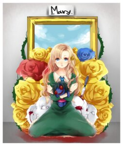 Rating: Safe Score: 10 Tags: blood dress etsuo ib mary_(ib) User: charunetra
