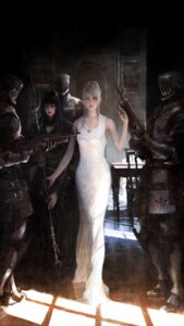 Rating: Safe Score: 45 Tags: armor cleavage dress final_fantasy_xv gun lunafreya_nox_fleuret tagme weapon User: NotRadioactiveHonest