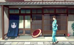 Rating: Safe Score: 23 Tags: kimono landscape munakata umbrella User: Mr_GT