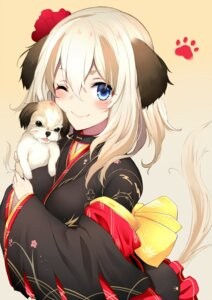 Rating: Safe Score: 40 Tags: animal_ears japanese_clothes kyou_(kurifuto) tail User: nphuongsun93