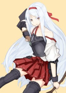 Rating: Safe Score: 19 Tags: amagi_mikoto kantai_collection shoukaku_(kancolle) stockings thighhighs weapon User: 23yAyuMe