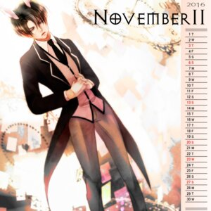 Rating: Safe Score: 4 Tags: animal_ears bunny_ears calendar levi male shingeki_no_kyojin tagme User: charunetra