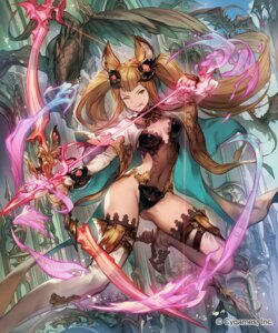 Rating: Safe Score: 61 Tags: animal_ears cleavage granblue_fantasy heels lee_hyeseung leotard metera_(granblue_fantasy) no_bra thighhighs weapon User: Mr_GT