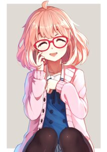 Rating: Safe Score: 61 Tags: baisi_shaonian kuriyama_mirai kyoukai_no_kanata megane pantyhose seifuku User: Mr_GT