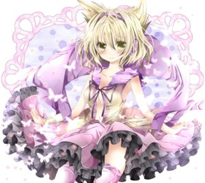 Rating: Safe Score: 34 Tags: cleavage headphones nanase_nao thighhighs touhou toyosatomimi_no_miko User: Nekotsúh