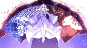 Rating: Safe Score: 10 Tags: a_flow dress saigyouji_yuyuko touhou User: charunetra